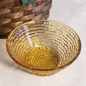 Vintage Accents - Vintage amber glass dish